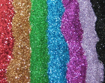solvent resistant glitter .008 hex 14 grams / half ounce bag by weight 1 Fl. ounce cosmetic grade in your choice of 9 colors
