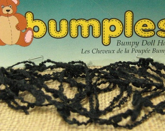 bumpy doll hair black 2 yards bumples textured yarn can be sewn or glued for dolls and craft projects