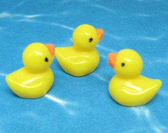 miniature Rubber Duck dollhouse bath toy yellow baby ducklings micro minis diorama figure fairy garden animal tiny terrarium figurine chick