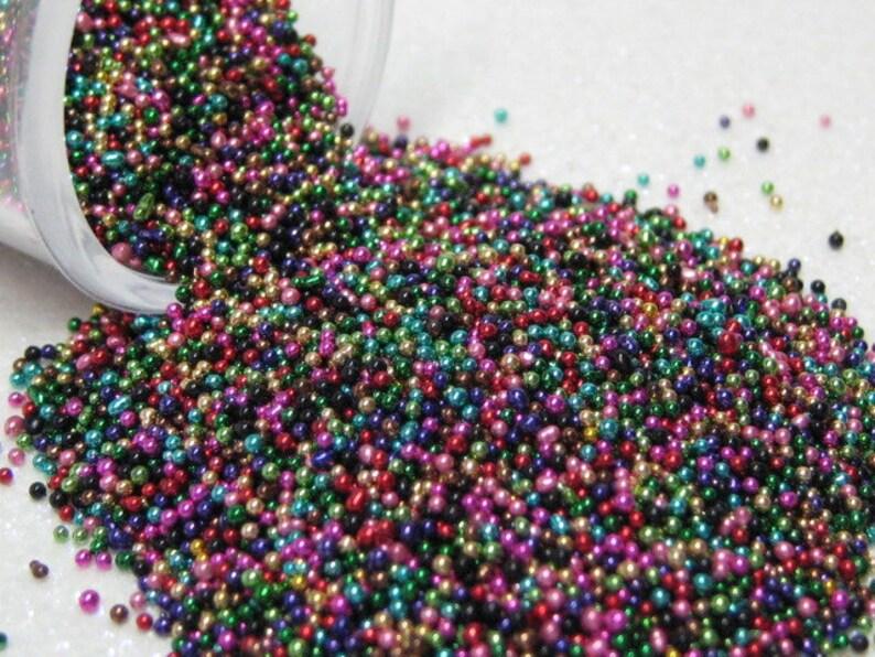 micro marbles .75mm art mix metallic half ounce / 14 grams image 0