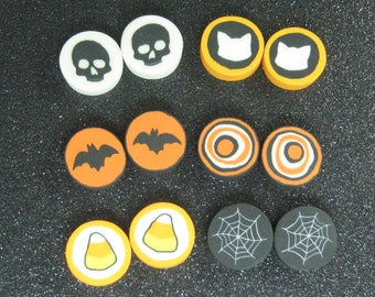 Polymer clay Halloween cabochons 10pc assorted slices for jewelry decoden kawaii supplies