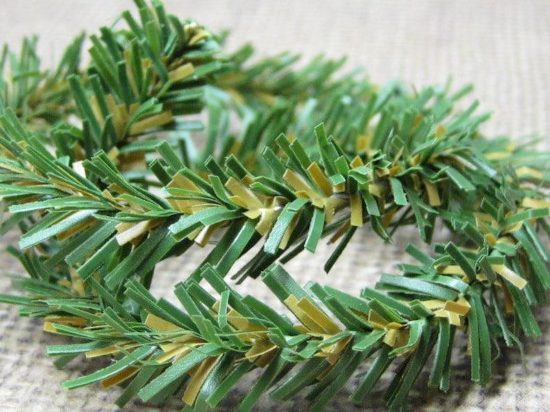Canadian pine mini garland DIY 12 inch wire roping miniature image 0