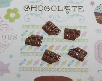 candy bar tiny chocolate bars 10mm x 6mm for kawaii and decoden crafts jewelry flat back cabochons miniature chocolate bar