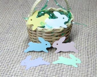 Miniature Easter bunny rabbit decorations flat plastic mini crafts 24pcs pastel spring embellishment playscale kawaii decoden dollhouse