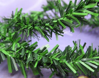 green pine mini garland 2 feet DIY wire roping dollhouse miniature christmas & holiday decoration fits 1:12 scale one inch or 1/6 playscale