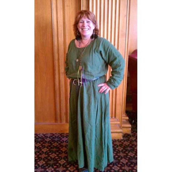 Basic And Plus Size Linen Long Sleeve Medieval Dress Etsy