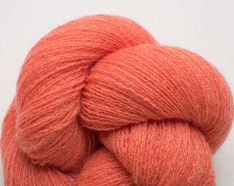 Coral Cashmere Lace Weight Recycled Yarn, CSH00075