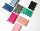 Bifold Mini Leather Wallet available in 8 colors, cardholder, card case
