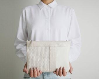 "Striped cross body clutch ""tricolor"", small shoulder bag, bridal bag, evening bag, leather purse, crossbody purse"