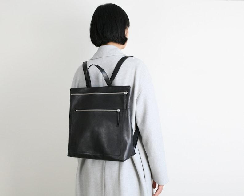 leather backpack backpack purse hipster backpack image 0