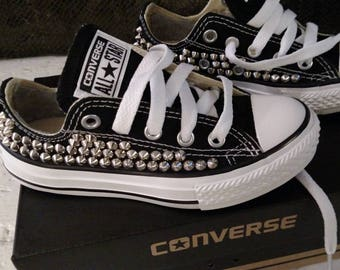 96e6e38b1c5 Infant Toddler Studded Converse Low Top