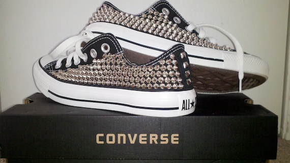Studded Converse Shoes, Custom Studded Converse Chuck Taylor All Star Chaussures (ALL 4 SIDES STUDDED)