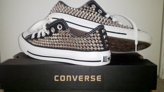 966f74d8e5bc Studded Converse Shoes Custom Studded Converse Chuck Taylor