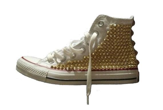 1525a2181e1b Studded Converse Shoes Custom Studded Converse Chuck Taylor