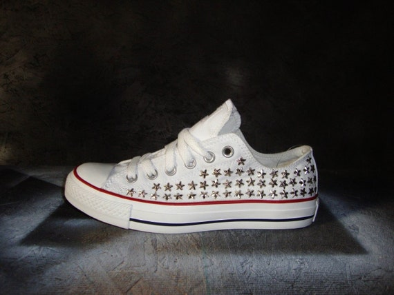 Star Studded Converse Shoes, Custom Studded Converse Chuck Taylor All Star Shoes