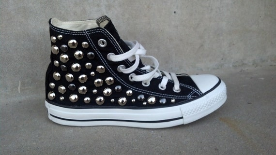 Studded Converse Shoes, Custom Studded Converse Chuck Taylor All Star Shoes