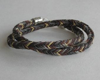 Horse Hair Bracelet. Wrap Bracelet. Chunky Bracelet. Horse Bracelet. Braided Bracelet. Custom Bracelet. Horse Gift. Horse.