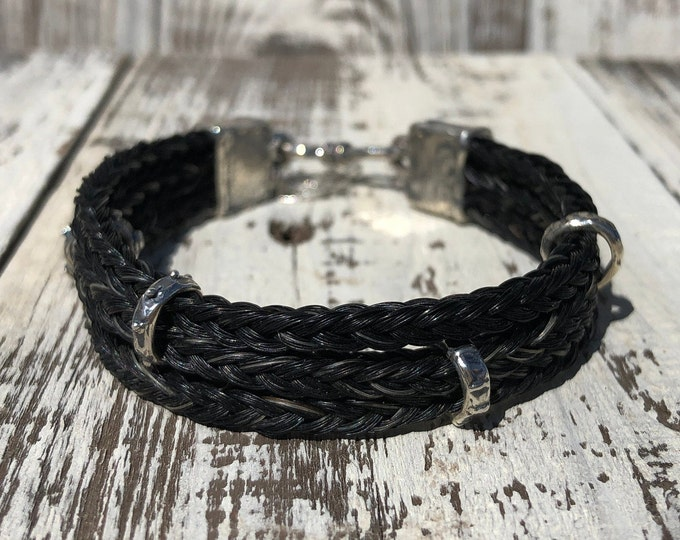 Featured listing image: Custom Horse Hair Bracelet with Sterling Silver Hardware