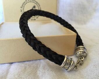 Connor - Chunky Horse Hair Bracelet, Men's Horse Hair Bracelet
