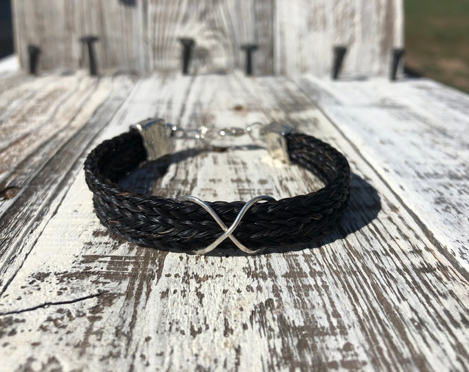 Featured listing image: Custom Horse Hair Bracelet Made from Your Horses' Hair, Infinity Bracelet