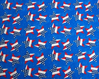Cute Patriotic Tiny Stars /& Stripes Cotton Fabric   Sold  by the Half Yard BTHY