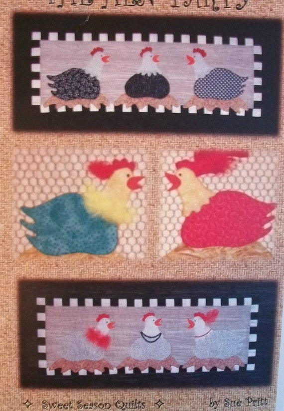 Chicken Quilt Pattern Quilt Pattern Chicken Mini Quilt Etsy Delectable Chicken Quilt Pattern