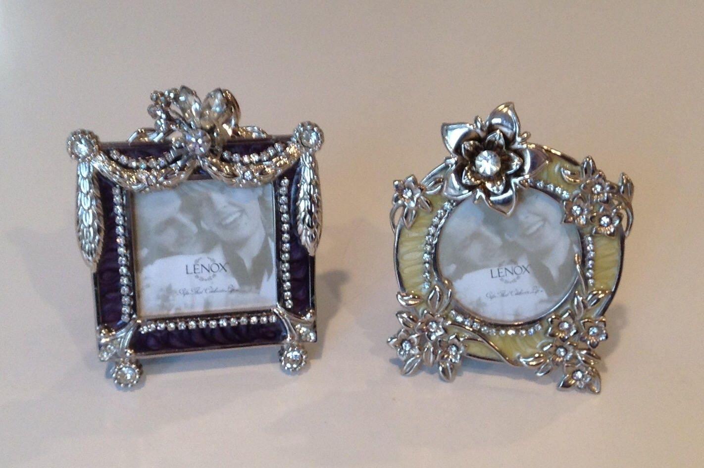 Lenox enamal over metal frames embellished Lenox frames | Etsy