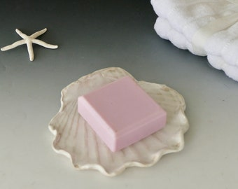 Perfect for tea bag holders and much more! Melted Beach Glass in Beautiful White Shell Bowls ring dishes Only 5.00 each