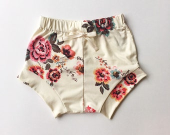 Ivory floral bloomers