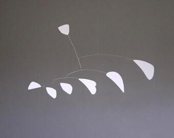 Abstract White Metal Mobile