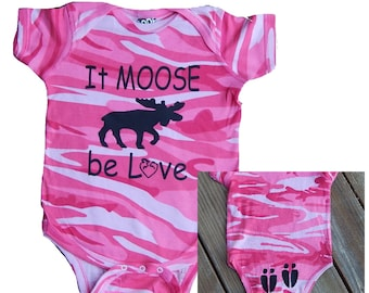 Infant New Baby Pink Camo One Piece Toddler Bodysuit