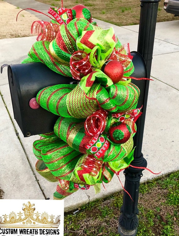 Mailbox Christmas Decorations.Christmas Mailbox Swag Christmas Swag Christmas Garland Christmas Wreath Table Centerpiece Mantle Decor