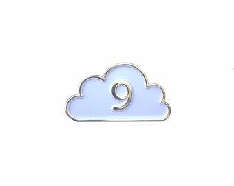 Cloud Nine Enamel Pin - Cloud 9 Enamel Pin