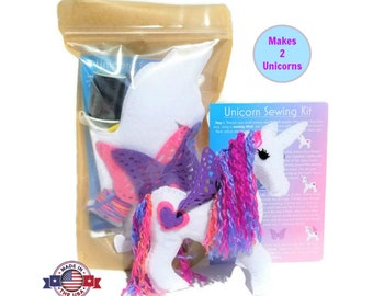 Unicorn Sewing Kit - Unicorn Gift - Sewing Kit for Kids - Felt Unicorn - Craft Kit for Kids - Unicorn Birthday - Unicorn Craft