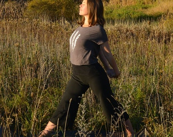 Organic Yoga Pants (Wide Leg Pants - Capris - Capri Pants - Dance, Hooping, Fitness - Hemp, Organic Cotton - Natural Leggings)