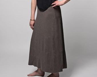 Hemp Essential Maxi Skirt.  (Hemp - Organic Cotton - Long Skirt - Jersey Skirt - Floor Length Skirt - Full Length Skirt - Aline Skirt)