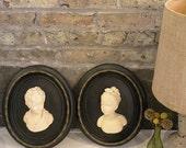 Vintage Framed Busts