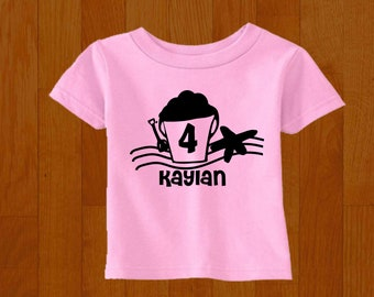 60c61b3ab Personalized Beach Birthday Shirt - Any Age and Name - Pick your colors!
