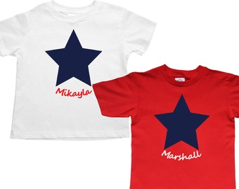 6a2a9cca1e2 Set of 2 matching July 4th shirts - kids infant or adult - pick your colors!