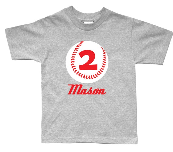 Personalized Baseball Birthday Shirt Any Age And Name You