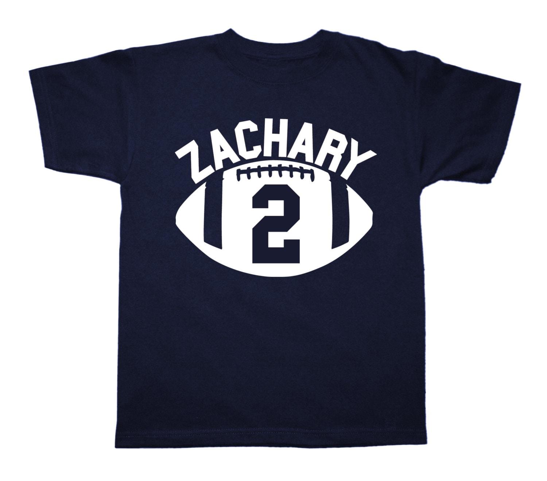 Personalized Football Sportsball Birthday Shirt Any Age And Etsy
