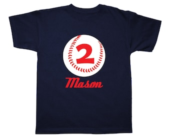 Baseball Birthday Shirt Personalized Birthday Shirt - any age and name - pick your colors!