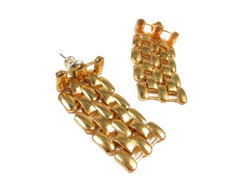 Vintage Earrings Chain in Gold Tone
