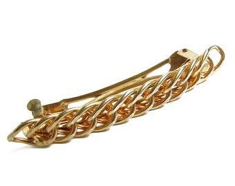 Vintage Gold Chain Hair Clip Pin