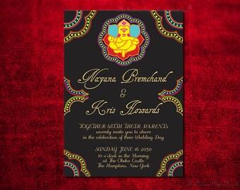 Ganesha Indian Wedding Invitation Design Card Engagement