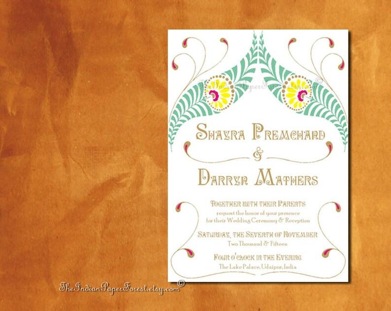 Indian Wedding Invitation Card Design Pdf Vivaah Palace Destination Engagement Party Bridal Shower Hindu Sikh Punjabi Bengali Kannada Tamil