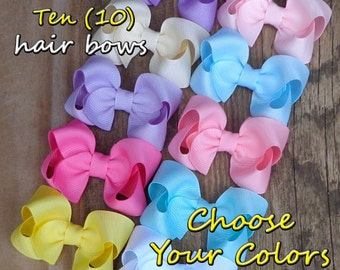 Baby Hair Bows~Hair Accessories for Toddler~Easter Hair Bows~Hair Bow for Girls~Baby Shower Gift Set~Girl Easter Basket Gift~Baby Hair Clips