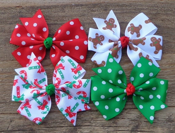 Christmas Hair Bows For Toddlers.Christmas Boutique Hair Bows For Girls Christmas Hair Clips Baby Hair Clips Toddler Hair Bows Christmas Hair Bow Bundle Hair Bow Sets