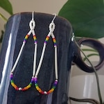 for: LUZ - Rainbow Porcupine Quill Earrings - Cherokee Made