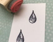 Tiny Drop Rubber Stamp 894